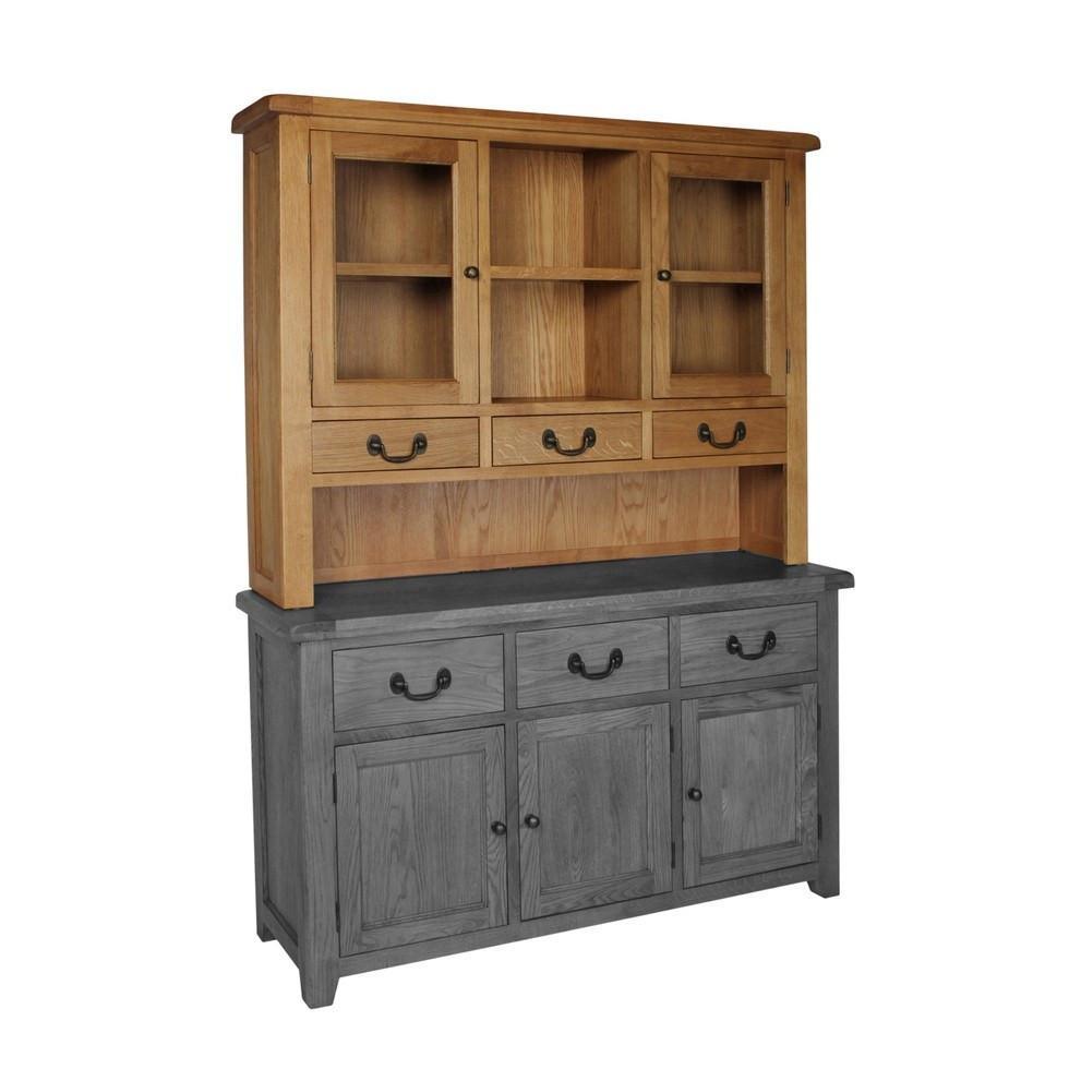 Dorset Oak Large Dresser Top Sideboard Sold Separately