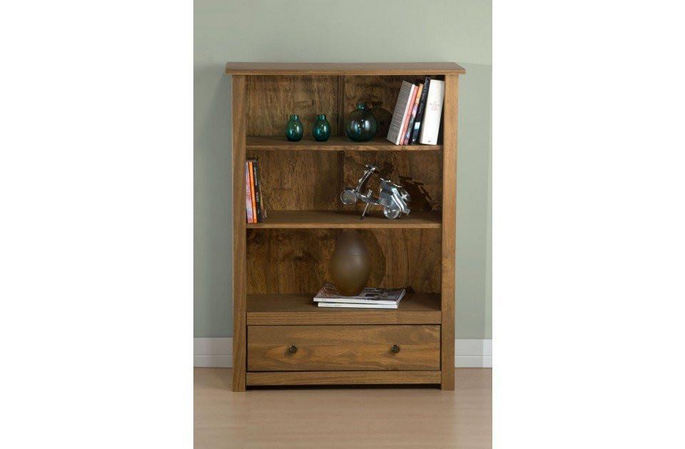 02ab6a9d5f BIRLEA Santiago 1 Drawer Distressed Pine Bookcase - Online Bed & Mattress  Store: Shops In South London & Surrey - Hamseys
