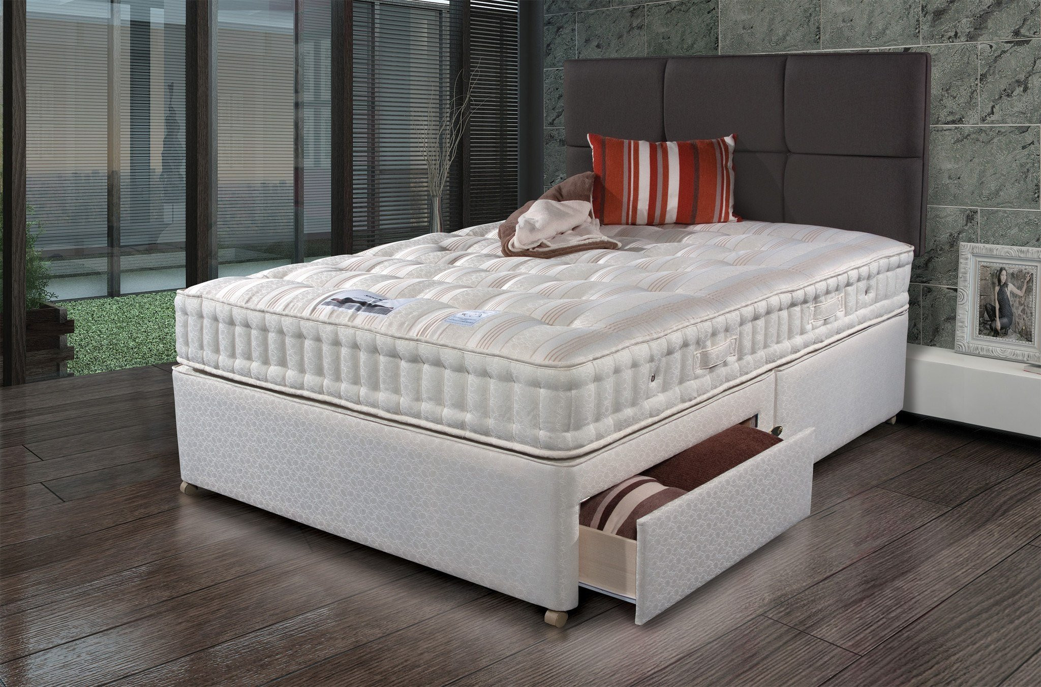 Sleepeezee new backcare extreme 1000 divan set online for New single divan beds