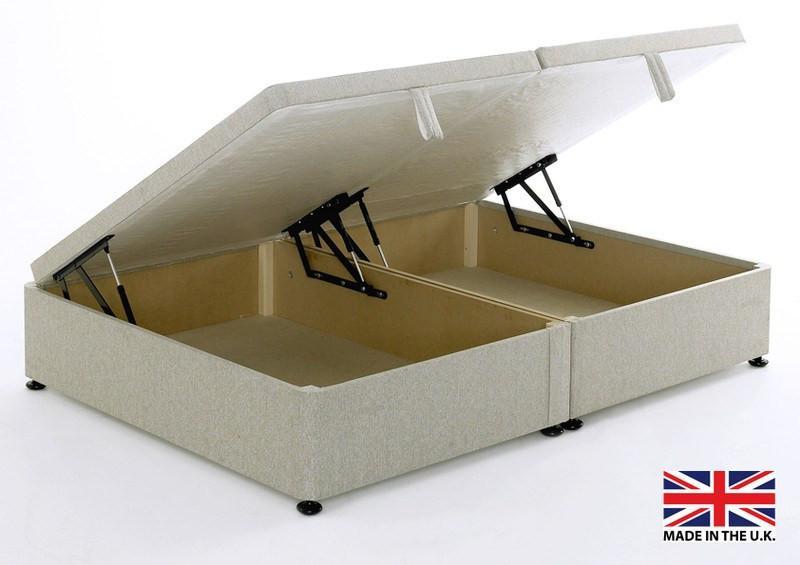 deluxe side opening ottoman storage base divan online. Black Bedroom Furniture Sets. Home Design Ideas