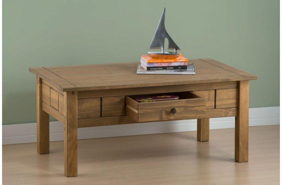Birlea Santiago 1 Drawer Distressed Pine Coffee Table Online Bed Mattress Store Shops In