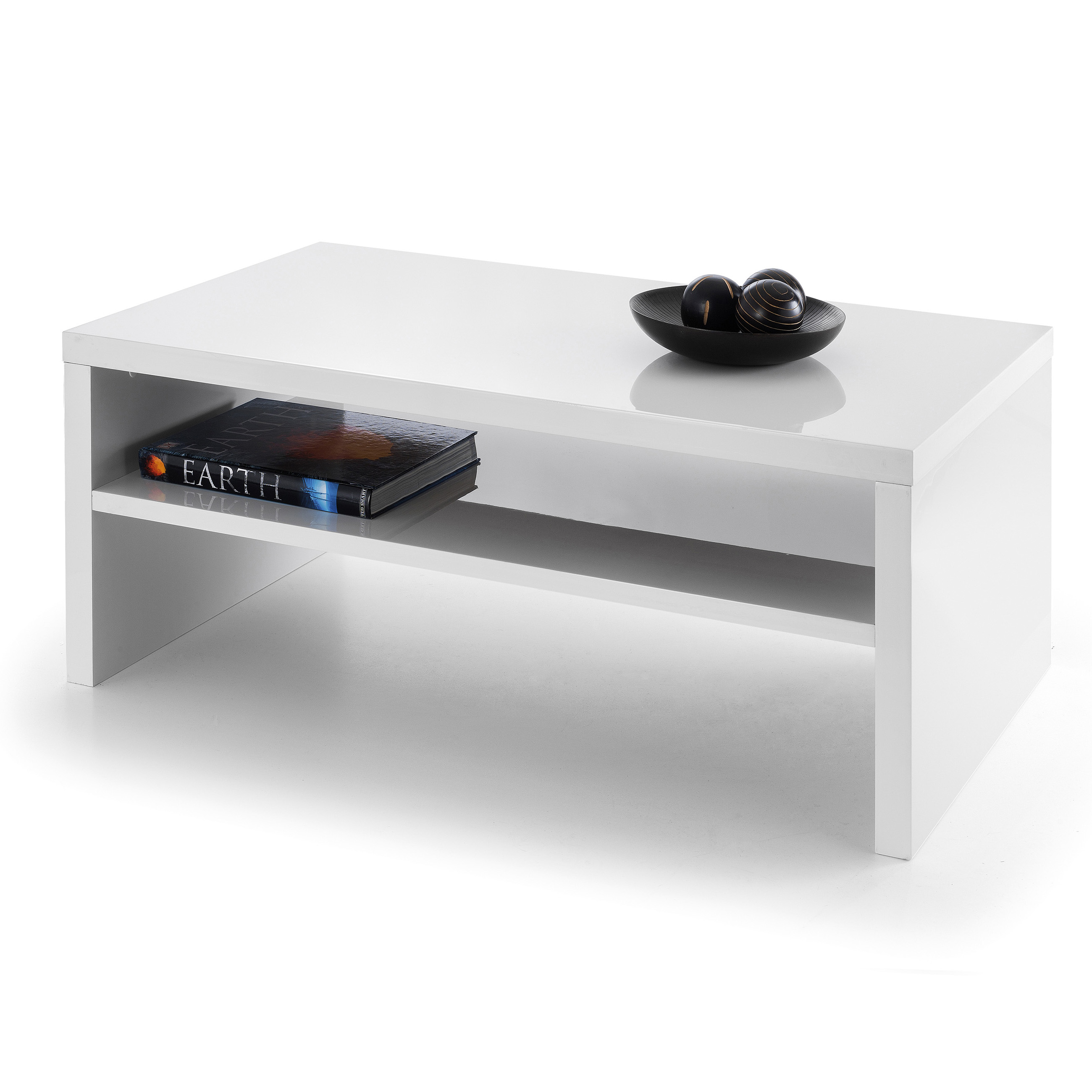 Excellent Julian Bowen Metro High Gloss Coffee Table White - Online Bed  FD94