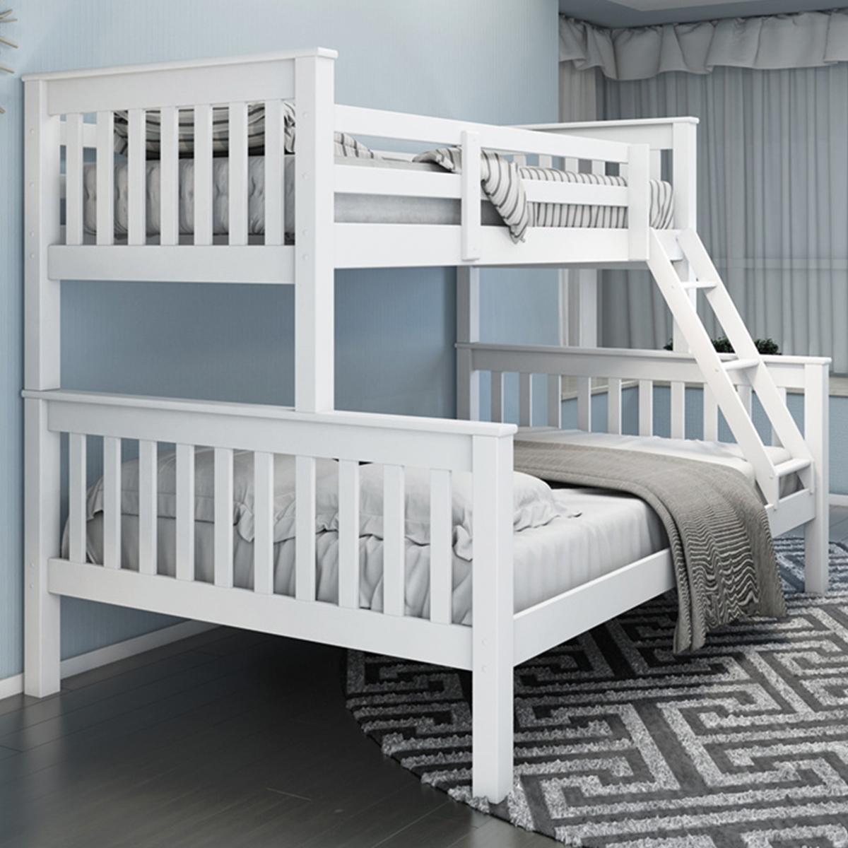 novaro triple sleeper bunk bed frame online bed mattress store shops in south london. Black Bedroom Furniture Sets. Home Design Ideas