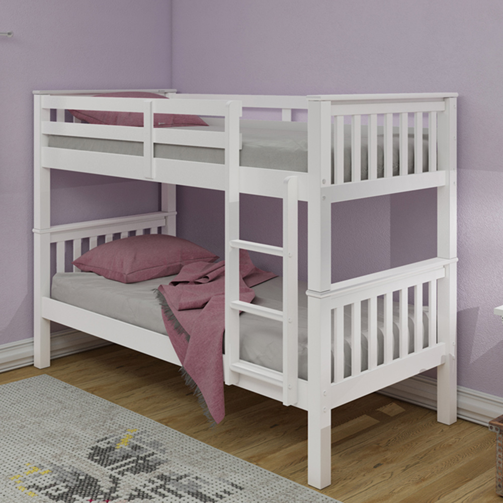 Nevada Bunk Bed White Inc 2 X Spring Plus Mattresses Online Bed