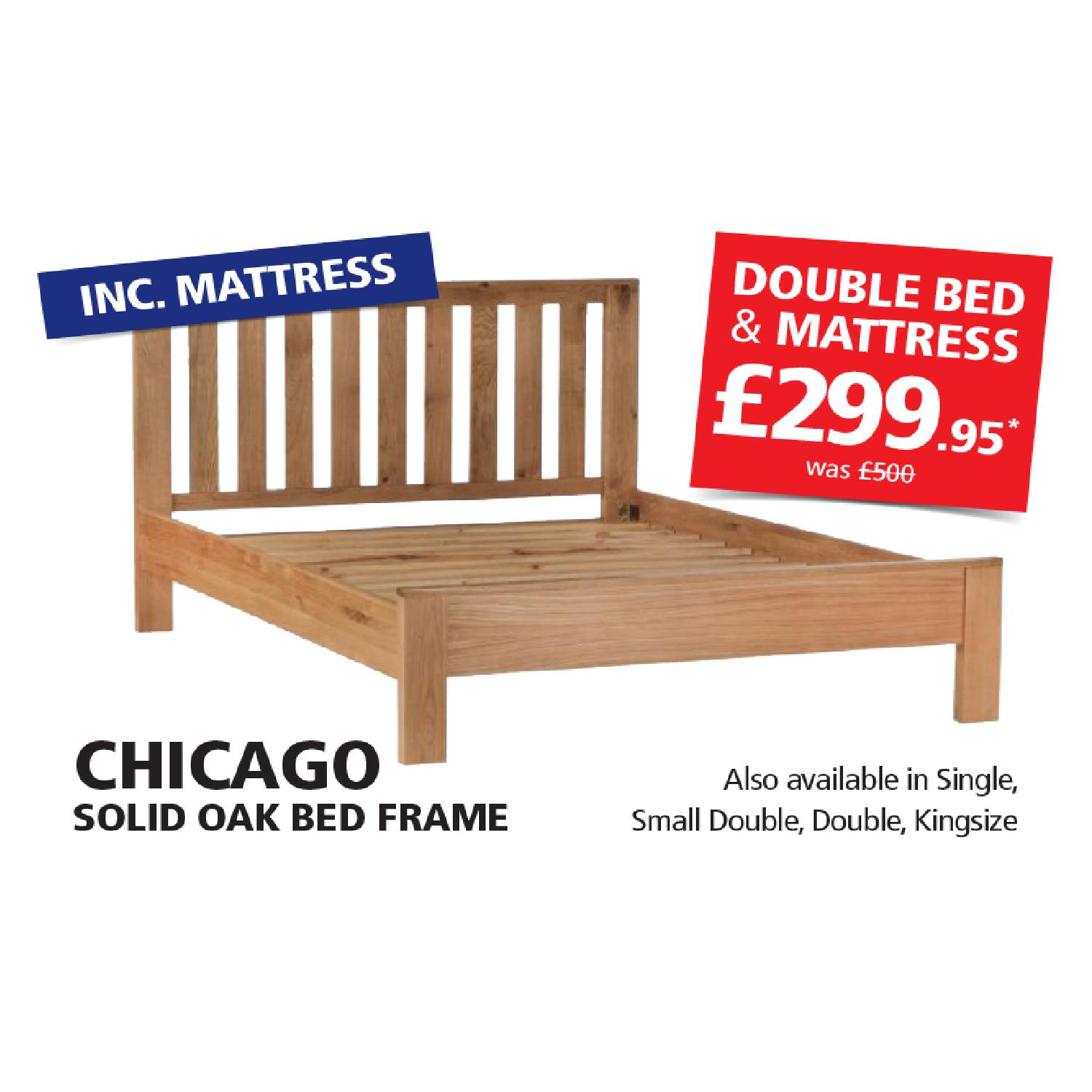 Chicago Oak Bed Frame *In Store Promotion Only* - Online Bed ...