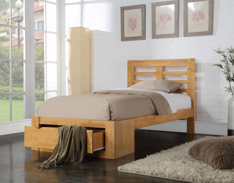 Bretton Bed Frame single oak