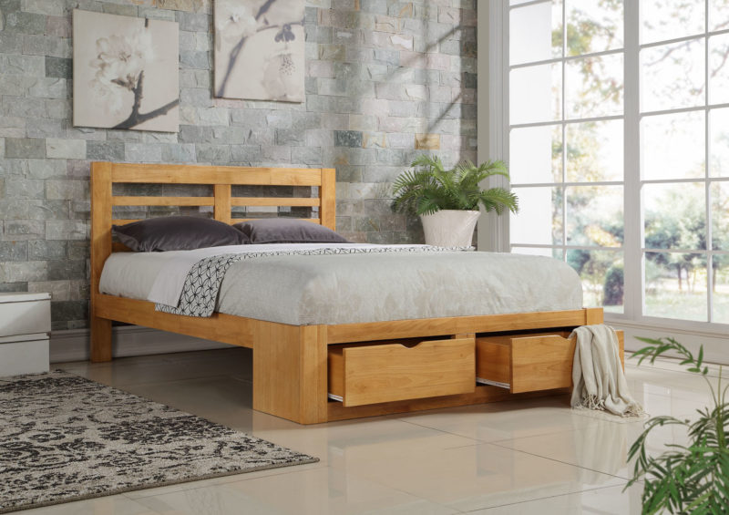 Bretton Bed Frame king size oak