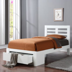 Bretton Bed Frame king size white